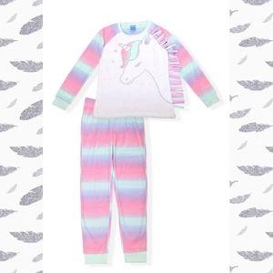 Sleep on It Girls Unicorn Fleece Pajama Set